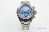 ingrosso orologio meccanico del platino del mens-hotsell bracciale in acciaio inossidabile bordo caffè platino 116506 orologio da uomo 40mm meccanico automatico da uomo orologi da polso