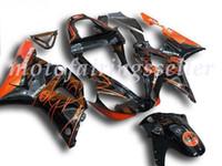 laranja r1 venda por atacado-3 Brindes Novo ABS Fairing Fit Kits para a Yamaha YZF-R1 00 01 YZF1000 2000 2001 R1 carenagens carroçaria conjunto personalizado Laranja Bat Preto