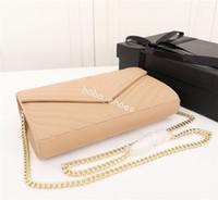 Wholesale elegant designer bags resale online - 2019 brand fashion designer bags Simple retro atmosphere chain pack elegant understated shoulder bag messenger bag