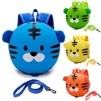Wholesale yellow leash resale online - New Kids Baby Safety Harness Backpack Leash Child Toddler Anti lost Cute Cartoon Tiger Bag
