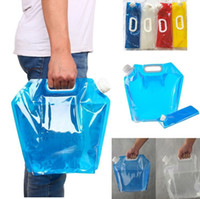 Wholesale picnic car resale online - New L Outdoor Folding water bags Collapsible Drinking Water Bag Car Water Carrier Container for Outdoor Camping Hiking Picnic