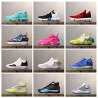 Wholesale 12 basketball shoes resale online - 2019 Basketball Shoes KD10 KD12 KD11 Sneakers KD Royal Mammary Cancer Black Moon s Kid University Red Kevin Durant