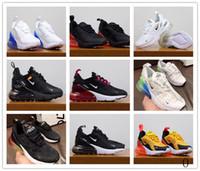 tallas de zapatos juveniles al por mayor-2019nbspNike AirnbspMax 270 youth Zapatillas de deporte para niños Zapatillas de deporte Air 27c Run Out Door Zapato deportivo 270s Trainer Air Cushion Tamaño de la superficie 28-35