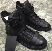 italyan deri spor ayakkabıları erkekler toptan satış-İtalyan marka tasarımcısı erkekler ayakkabı Hakiki Deri kadın platformu sneakers zapatos mujer scarpa chaussure Yüksek top sneakers büyük boy 35-47