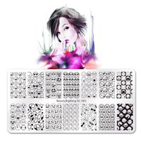 Wholesale xl image plates stamping nail art for sale - Group buy Beautybigbang Stamping Plate Nail Art Accessories Funny Face Expression Image Vintage Stainless Steel Stamp Template Mold XL