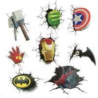 ingrosso adesivi dell'eroe-Adesivo 3D The Avengers Hero Cartoon Adesivi per film Bardian Cartoon Graffiti Adesivo per auto popolare Impermeabile antiusura Eco Friendly