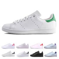 euro casual al por mayor-2019 nuevo clásico barato STAN hombres mujeres zapatos deportivos zapatos transpirable zapatos de skate smith Casual negro blanco verde zapatillas de deporte de euros 36-44