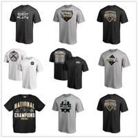 tees universitarios al por mayor-Black Vanderbilt Commodores 2019 NCAA Baseball College Serie mundial Campeones nacionales Camisetas para hombre diseñador Fans Tops Tee logos impresos