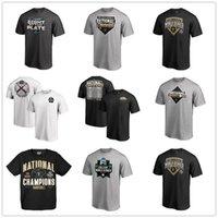 ingrosso tees universitari-Nero Vanderbilt Commodores 2019 NCAA Baseball College World Series Campioni nazionali T-shirt uomo designer Tazze Tops Tee logo stampato