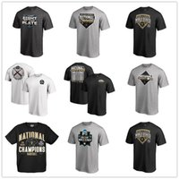 schwarzes baseball t-stück großhandel-Schwarz Vanderbilt Commodores 2019 NCAA Baseball College World Series Nationalmeister T-Shirts Herren Designer Fans Tops T-Shirt gedruckte Logos