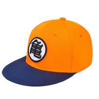 erkekler düz şapka şapkaları toptan satış-Goku çocuk oyuncak şapka snapback düz hip hop kapaklar