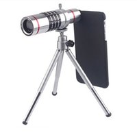 Wholesale universal optical zoom telescope for sale - Group buy 18x Zoom Optical Telescope Telephoto Lens with Tripod Clip Kit Universal Phone Camera Lens for iPhone Android