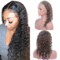 Wholesale full lace glueless peruvian for sale - Group buy Brazilian Deep Curly Wig Glueless Full Lace Wig with Baby Hair Pre plucked Lace Front Human Hair Wig