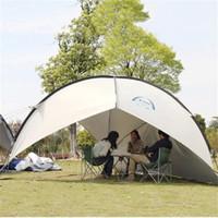 nylon sonnenschirme großhandel-UV-Schutz Pavillon Zelt Großes Strandzelt Wasserdicht Camping Sonnenschirm Markise BBQ Sun Shelter Outdoor Sun Canopy