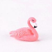 ingrosso buon giardinaggio-Buona fortuna di Pasqua Mini Flamingo Uccello Decorazione per la casa Accessori Miniatura Fata Casa Giardino Miniature Animali Casa Uccelli C19041302