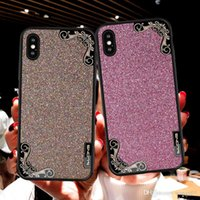 Wholesale drill cases online – custom Fashion Case Luxury Clear TPU Soft Silicone Case For iPhone X XR XS MAX Plating Side Drill Cell Phone Cover