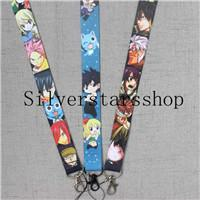 Wholesale fairy tail keys for sale - Group buy Multiple styles FAIRY TAIL LANYARD Happy Lucy Natsu Gray anime manga ID neck key chain strap V