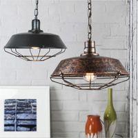 Wholesale hanging vintage chandelier light for sale - Pendant Light industrial Retro hanging lights retro vintage Pendant Lamp American loft chandelier home lighting fixtures