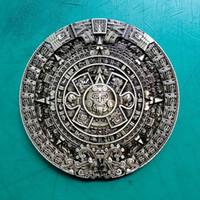 Wholesale bronze western belt buckles for sale - Group buy Cowboy Belt Buckle Metal Bronze Maya Aztec Calender Luxury Mens Designer Fashion Western Jeans Belt Buckles