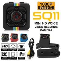 Wholesale action camera display online - SQ11 Mini camera HD P Night Vision Mini Camcorder Action Camera DV Video voice Recorder Micro Camera Car dvr