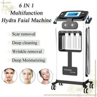 Wholesale machines remove wrinkles resale online - 2019 hydra facial dermabrasion skin cleaning machine microneedle derma pen wrinkle removal ultrasound scrubber removes dead skin equipment