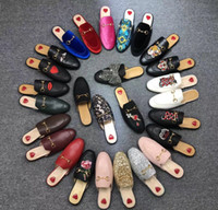 Wholesale rubber slippers for mens resale online - Designer mens slides Baotou slippers for men and women soft cowhide outdoor beach Lazy slippers Luxury Slippers
