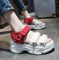 Wholesale range shoes for sale - Group buy Web celebrity sandals newmm platform suer shoes for women with a full range of trendy Velcro sports beach shoes