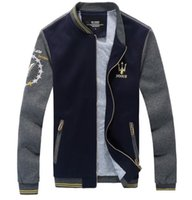 chaqueta mangas cuero xxl al por mayor-Cool College Baseball Jacket Men 2016 Fashion Design Black Pu Leather Sleeve Mens Slim Fit Varsity Jacket Veste Homme Xxl