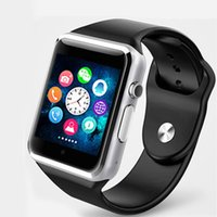 Wholesale gps sms tracker waterproof for sale - Group buy A1 Professional Smart Wrist Watch G SIM TF Camera Waterproof GSM Phone Large Capacity SIM SMS For Android for iPhone