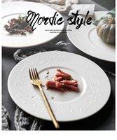euro tabakları toptan satış-porselen süper beyaz yemek takımları euro tarzı basit beyaz yemek tabakları