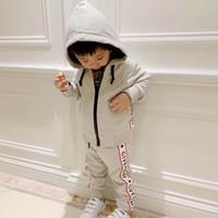 ingrosso hoodie per bambini-Abbigliamento da trasporto completo Set Felpe con cappuccio da bambina Giacca da bambino 2019 Sprin Tuta sportiva da bambina per bambina