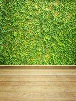 ingrosso pavimenti in vinile verde-Vinyl Fotografia Sfondi Green Grass parete molla in legno Sfondi Piano Photo Booth per i bambini Studio Puntelli