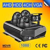 Wholesale dvr alarm resale online - 4PCS MP AHD HD Night Vision IR Camera P CH HDD Vehicle Car Mobile Dvr Video Playback I O Alarm Video Car Dvr