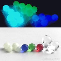 Wholesale pearls nail resale online - New Luminous Glowing mm mm Quartz Terp Pearl Ball Insert with Red Blue Green Clear Glass Terp Top Pearls for Quartz Smoking Nail