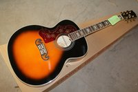 ingrosso la chitarra sinistra libera di trasporto libero-Spedizione gratuita 2019 nuova chitarra acustica SJ200 per mancini all'ingrosso Chitarra acustica vintage Sunburst 6 corde chitarra