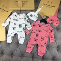 Wholesale baby boy clothing horse for sale - Group buy Brand Baby Boys Girls Rompers Designer Kids Long Sleeve Cotton Jumpsuits Infant War Horse Cotton Romper Boy Clothing