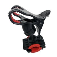 Wholesale bicycle bottle cage adjustable for sale - Group buy Mobile Phone Riding Bracket Adjustable Plastic Pure Color Trumpet Silicone Pad Bicycle Holder Handlebar Water Bottles Clips3 ygE1