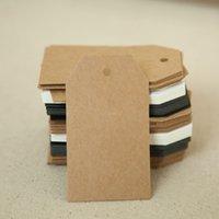 boş kart askıda kal etiketleri toptan satış-500 adet 7 * 4 cm boş hediye paketi etiketleri asmak ücretsiz kargo DIY el yapımı pişirme paketi fiyat kart etiketleri son kahverengi etiketleri