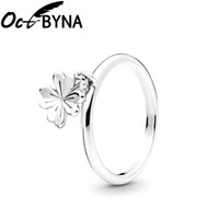 Wholesale swing jewelry for sale - Group buy Octbyna Swing Plant Petal Pendant Brand Ring For Women Fashion Silver Color Wedding Engagement Fingertip Ring Jewelry Gifts