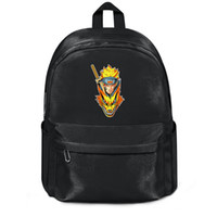 Wholesale pu backpack fox for sale - Group buy Package backpack uzumaki Naruto Anime Nine tailed fox black fashion cutepackage daily sports gymbackpack