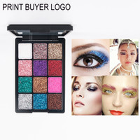 Wholesale unique cosmetics makeup resale online - 12 Colors Bright Eye Shadow Makeup Charming Pressed Glitter Eyeshadow Palette Long lasting Unique Eye Shimmer Makeup Cosmetic With Mirror