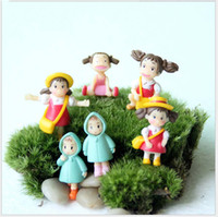 animar manzana al por mayor-Q versión 3.5 cm chinchillas Xiaomei Hayao Miyazaki animado de dibujos animados figura de acción juguetes niña regalos en maceta adornos Holder Envío Gratis