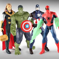 Wholesale spiderman hulk figure for sale - Group buy The Avengers Action Figures Captain America Toy Spiderman Hulk Movable Decoration Childrens Day Gifts ps F1