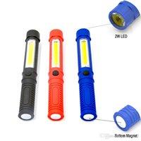 led mıknatıs ışıkları toptan satış-Alt Mıknatıs ile Sıcak LED el feneri COB Mini Kalem Fonksiyonlu LED Torch Işık koçanı Kol çalışma feneri Çalışma El feneri