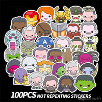 Wholesale superheroes toys for sale - Group buy 100Pcs Marvel Superhero Avengers Trolley Sticker Waterproof Personality Guitar Skateboard Doodle Sticker Kids toys