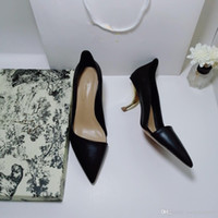 besten designer-sandalen großhandel-Verkauf 2019 beiläufige reizvolle Entwerfer beschuht echtes Leder beste Qualitätshohe absätze beschuht Hefterzufuhren Sandelholze pumpt Frauen Spitzen Schuhe