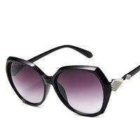 quadratische koreanische sonnenbrille großhandel-19 arten Sonnenbrillen Damenmode Großen Rahmen Kunststoff Sonnenbrille Korean Square Sonnenbrille Mit Metall Verzieren MNYJ3-4 01