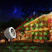 Wholesale Remote control Conch shape outdoor waterproof laser light garden yard landscape lighting Christmas decoration projector lawn lamp wall light