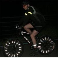 ingrosso attrezzature per biciclette-Tubo riflettente di montaggio Tubo di avvertimento Striscia di attrezzatura per bicicletta Filo di acciaio Avvertenza Ruota di bicicletta Riflettore di ruota Sicurezza esterna 3 5ljf1