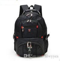 i̇sviçreli seyahat çantaları toptan satış-15.6 inçlik dizüstü Schoolbag Seyahat Çantaları 8112 için Toptan En kaliteli İsviçre Fonksiyonlu laptop çantası Sırt Çantası